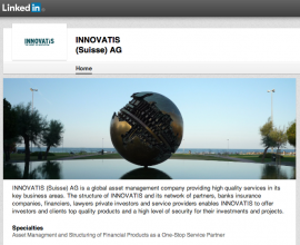 INNOVATIS (Suisse) AG is on LinkedIn now